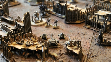 Epic Armageddon Scenery - fight for ruined city
