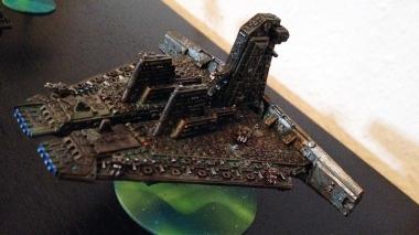 Technokratie Adeptus Mechanikus Battleship sidefront